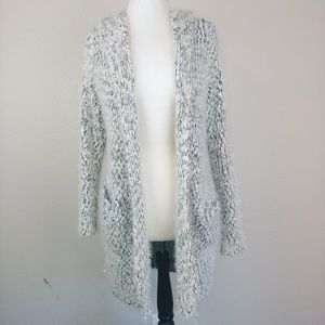 William B. Long Open Front Cardigan Sweater